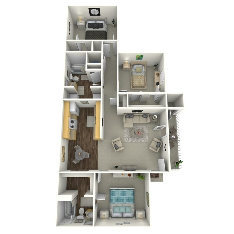 Floor plan image of Three Bedroom Villa