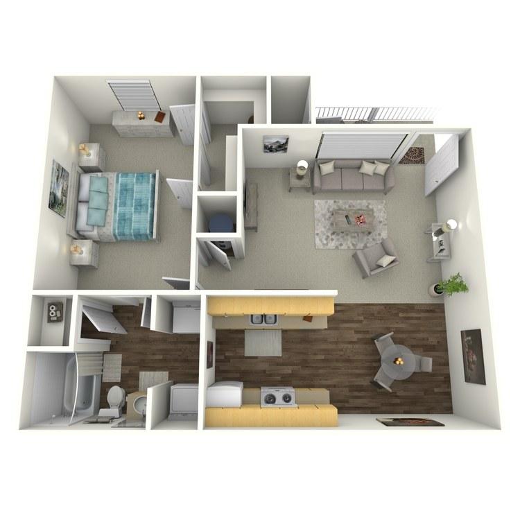 Floor plan image of One Bedroom Villa