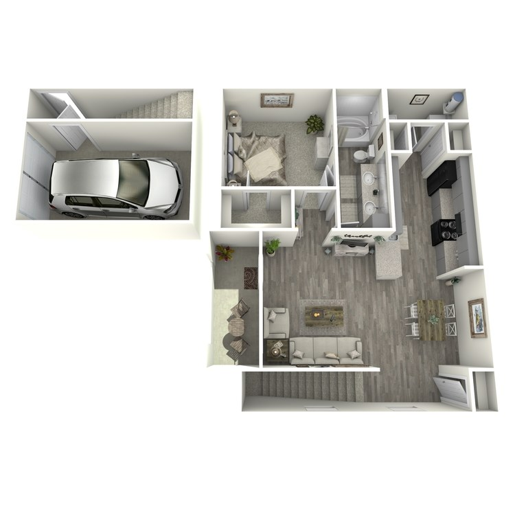 Floor plan image of 1 Bed 1 Bath A3-U