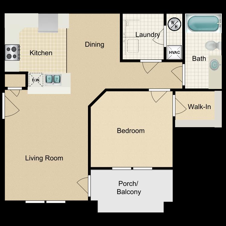 Floor plan image of 1BD