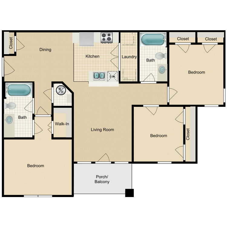 Floor plan image of 3BD