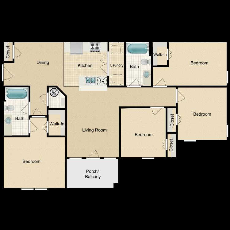 Floor plan image of 4BD