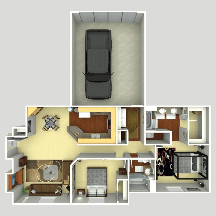 Floor plan image of Tuscany D