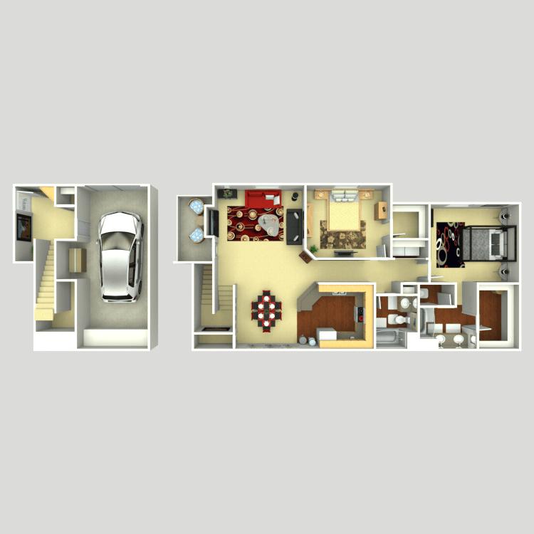 Floor plan image of Tuscany U