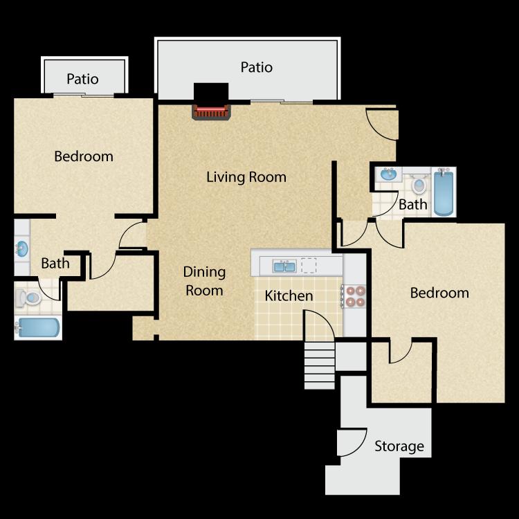 Floor plan image of The Gauguin