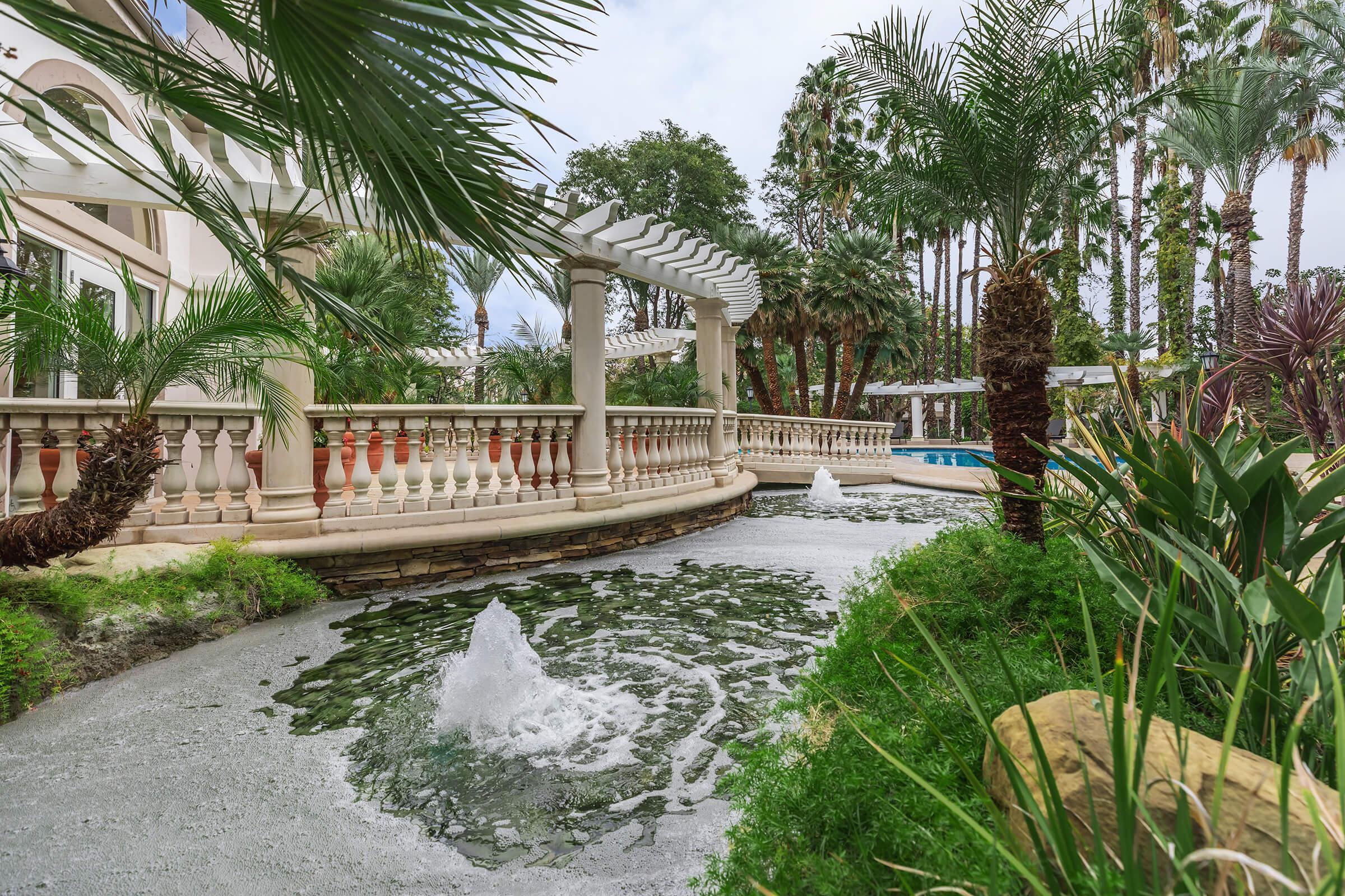 a house with a palm tree