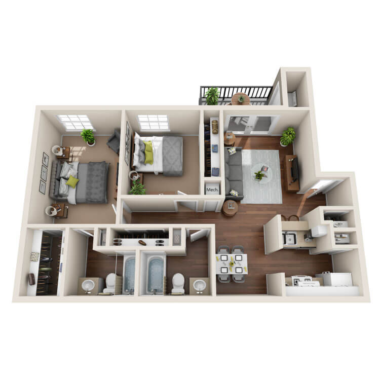 Floor plan image of Lavender