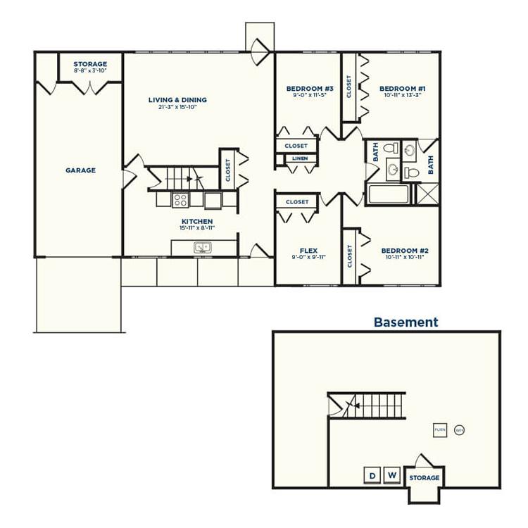Floor plan image of Linden