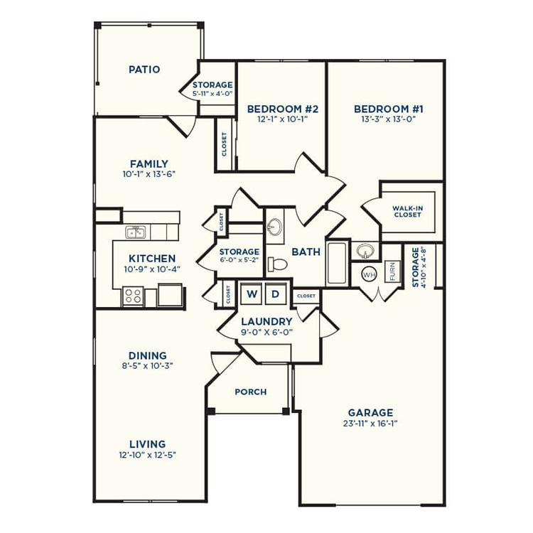 Floor plan image of Pecan
