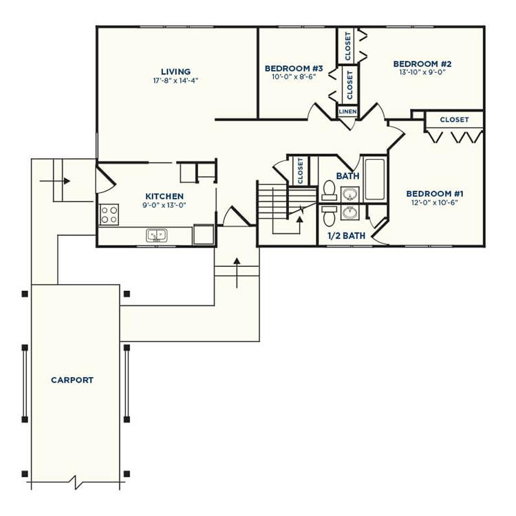 Floor plan image of Redwood