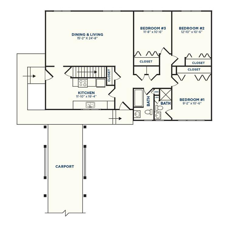 Floor plan image of Walnut