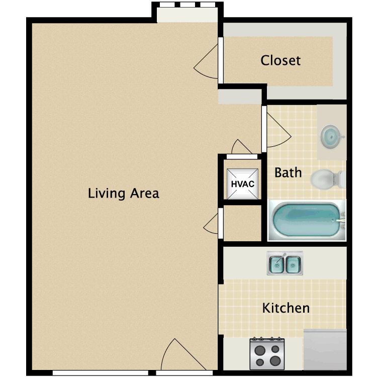 Efficiency floor plan image