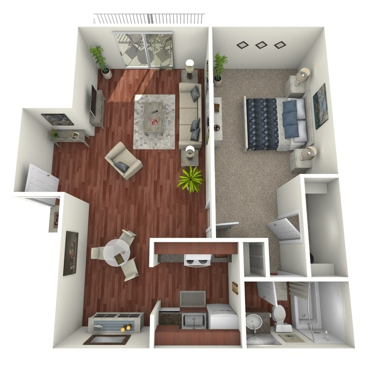 Floor plan image of General: 1BR 1BA