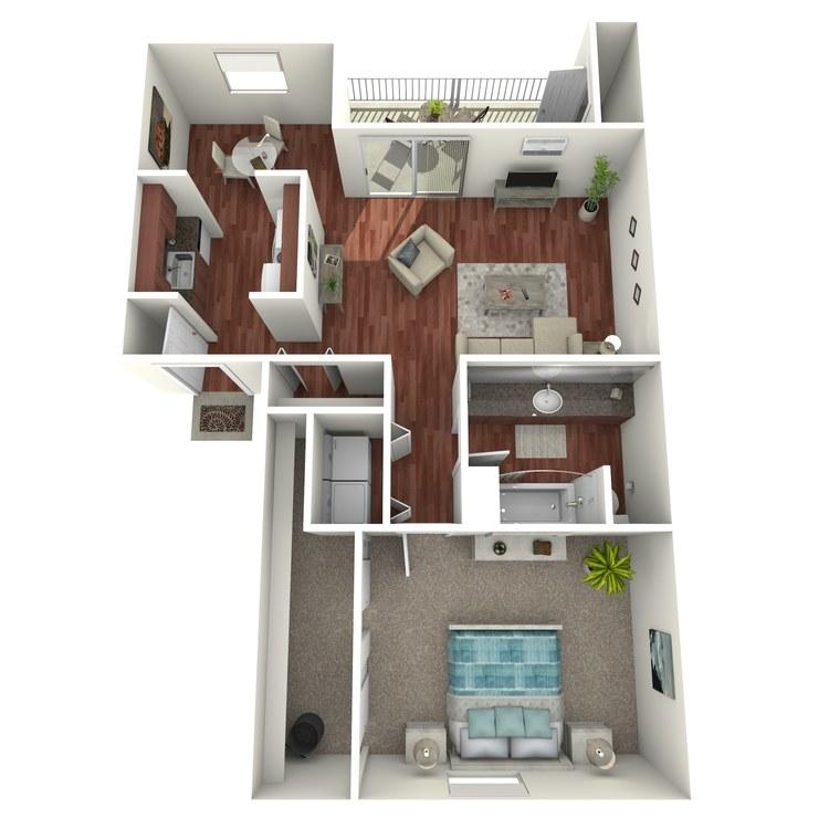Floor plan image of Admiral: 1BR 1BA