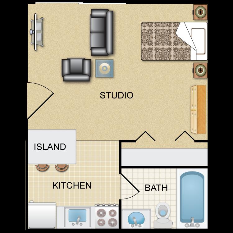 Floor plan image of Sergeant: STUDIO