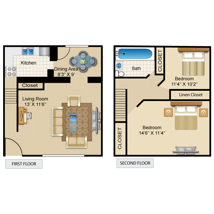 The Monroe floor plan image