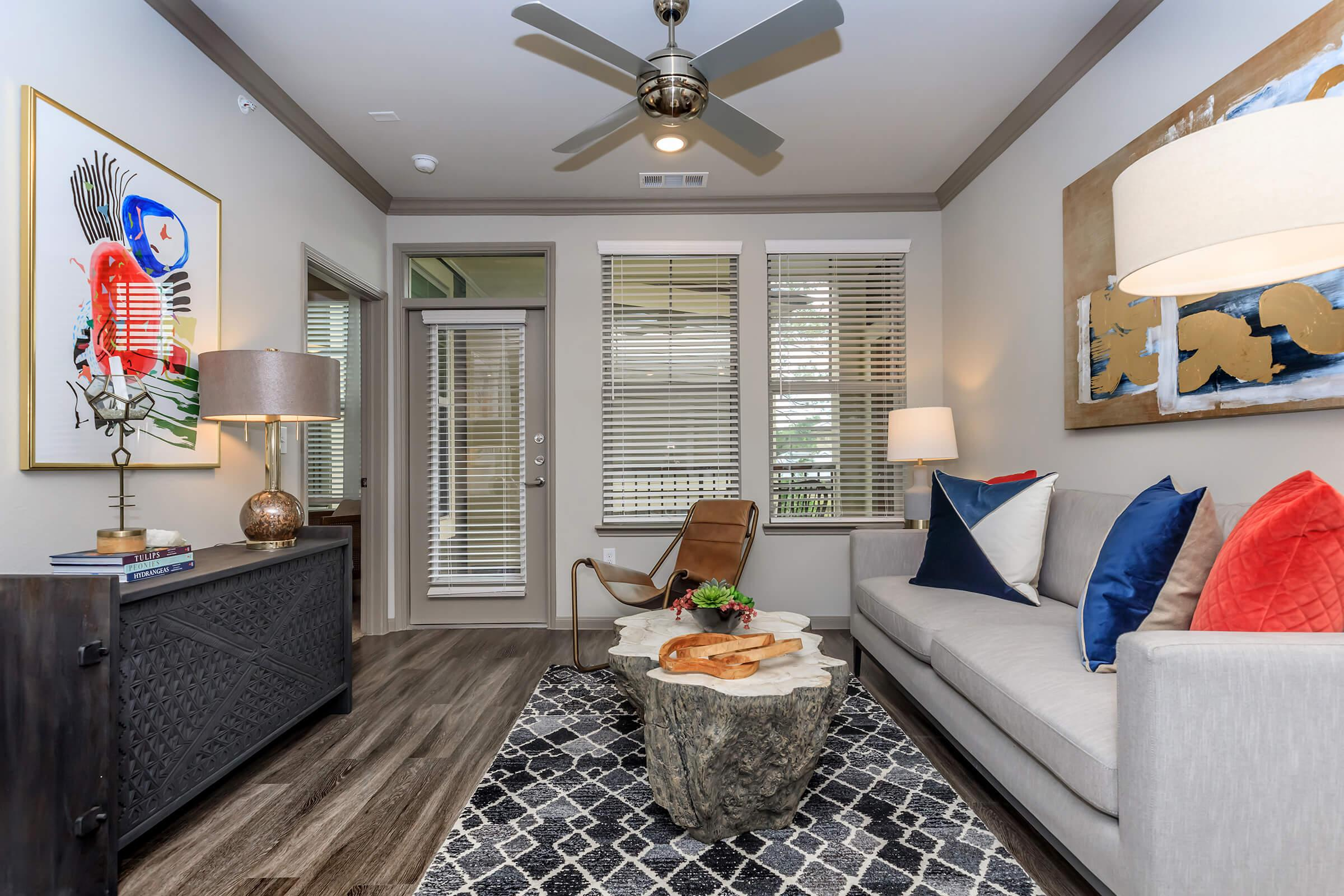 Two bedroom floor plan at Park at Tour 18