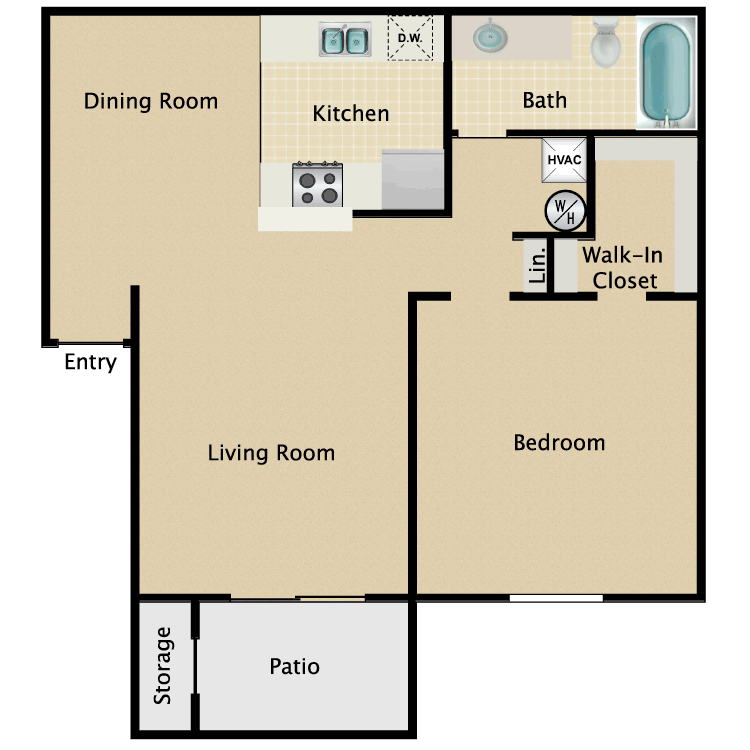 Floor plan image of Floor Plan D
