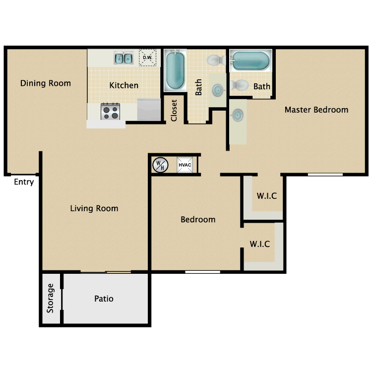 Floor plan image of Floor Plan B