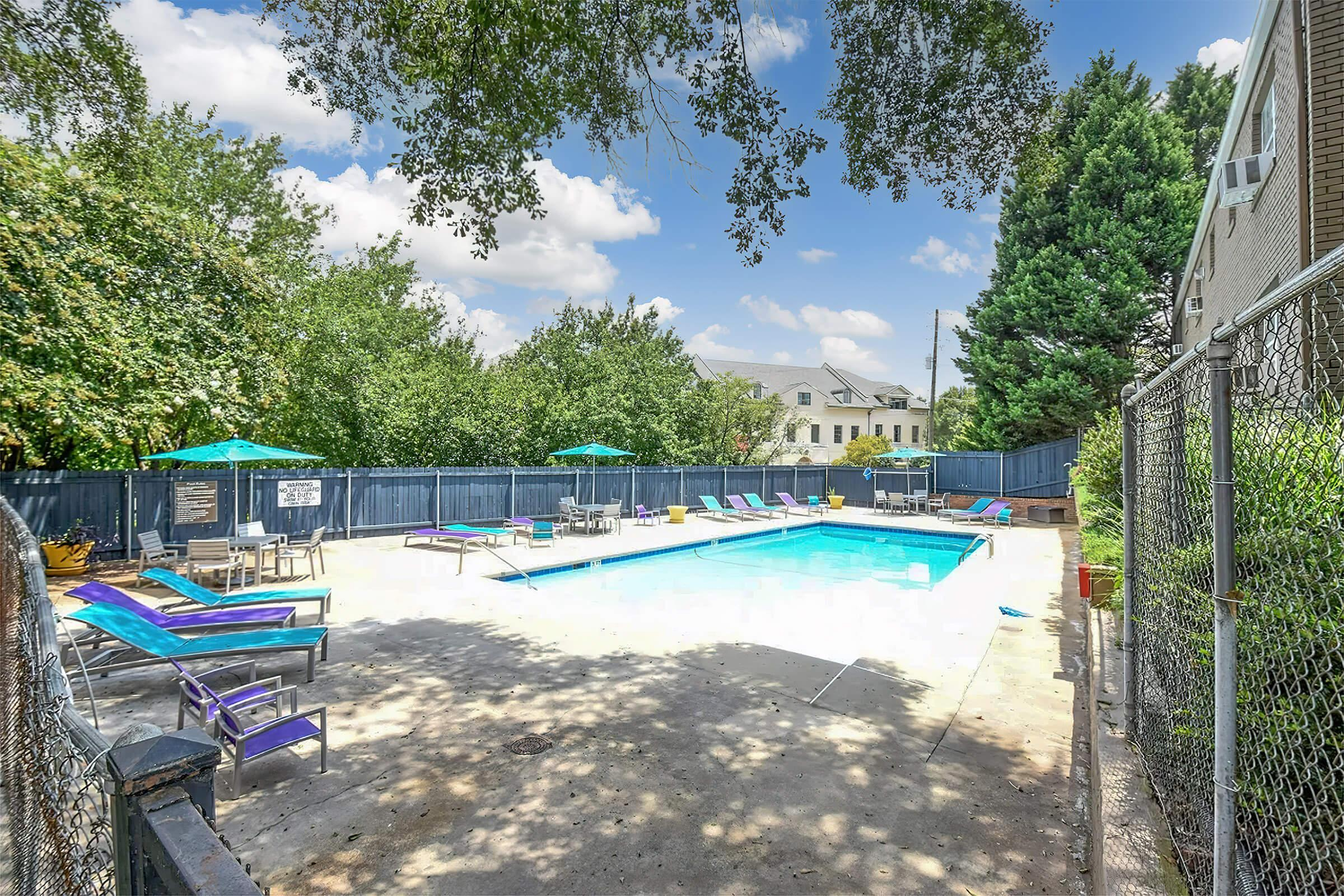 ENJOY THE SHIMMERING SWIMMING POOL AT THE PARK AT PEACHTREE HILLS
