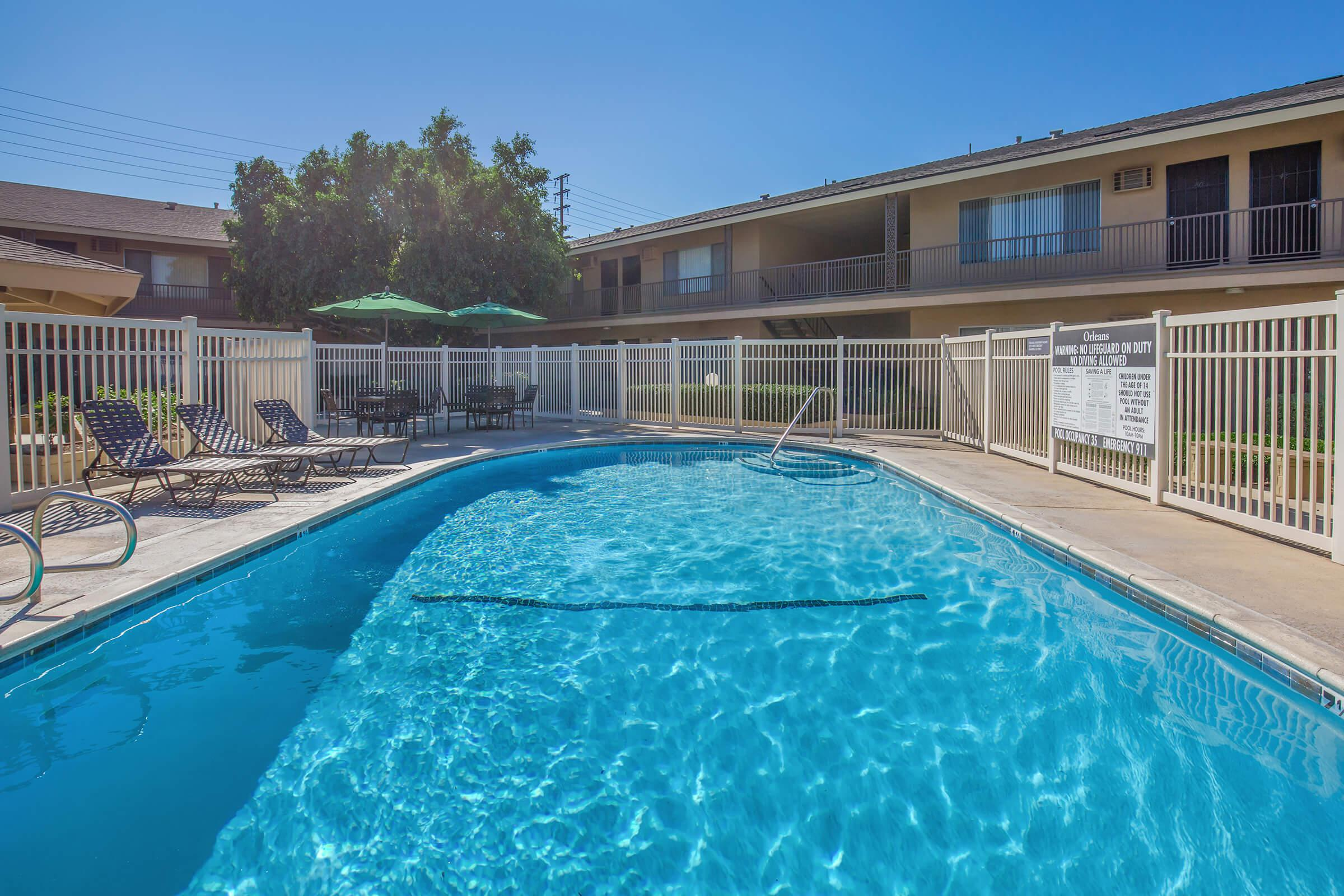 Orleans Apartment Homes community pool