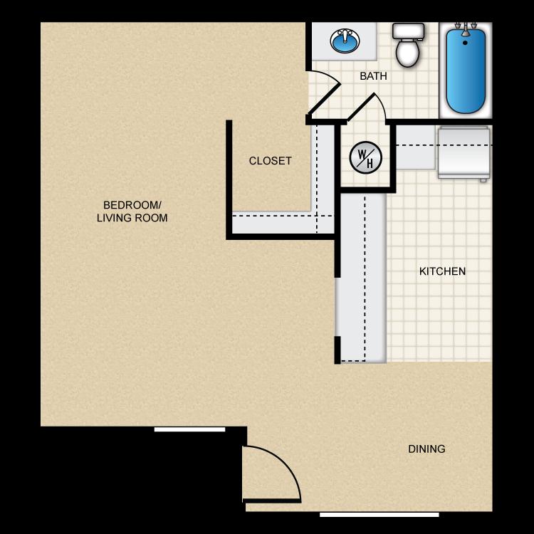 Floor plan image of (A) Efficiency