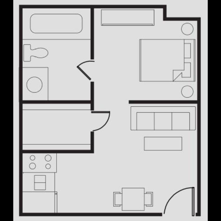 Floor plan image of Small Size Studio