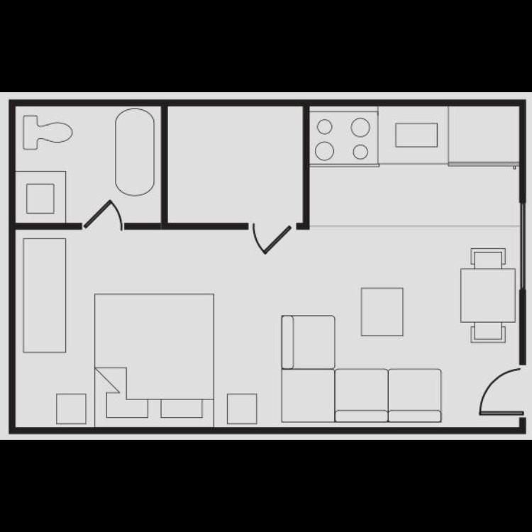 Floor plan image of Medium Size Studio