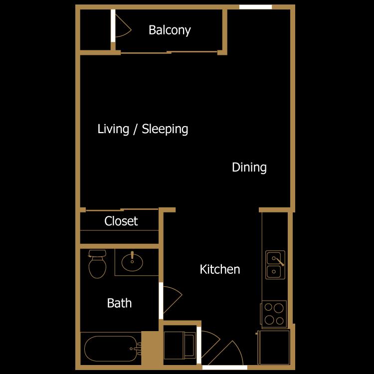 Floor plan image of Studio - K1