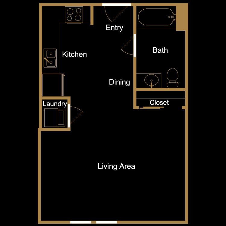 Floor plan image of Studio - K3