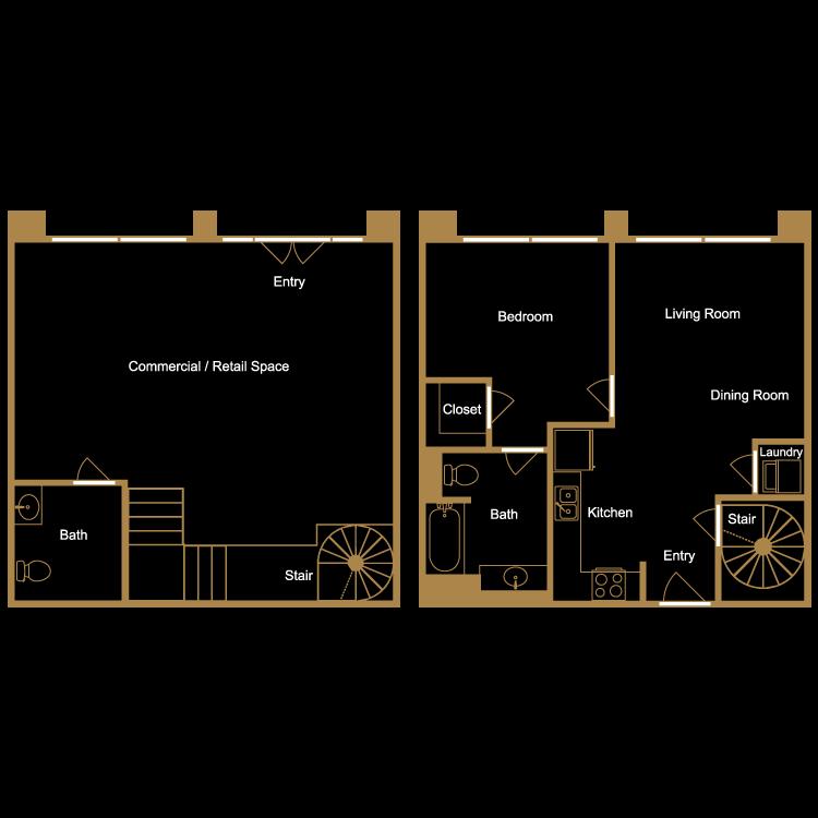 Floor plan image of Live/Work Loft - L1