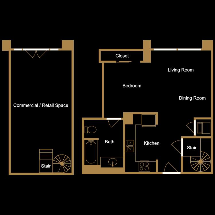 Floor plan image of Live/Work Loft - L2