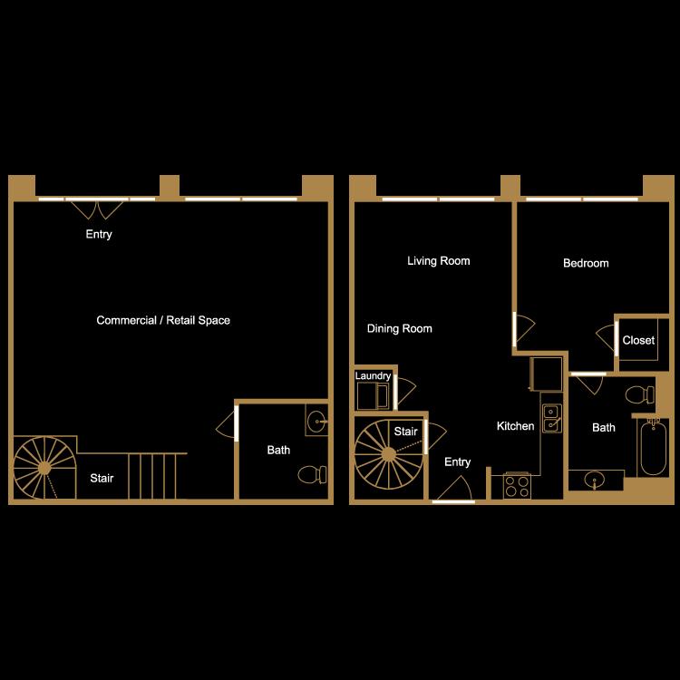Floor plan image of Live/Work Loft - L3