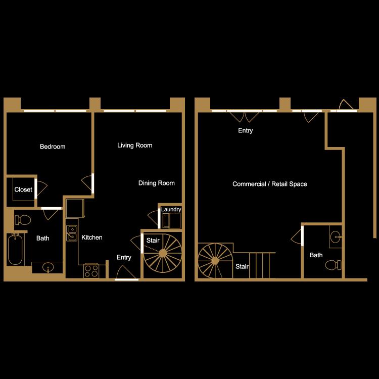 Floor plan image of Live/Work Loft - L4