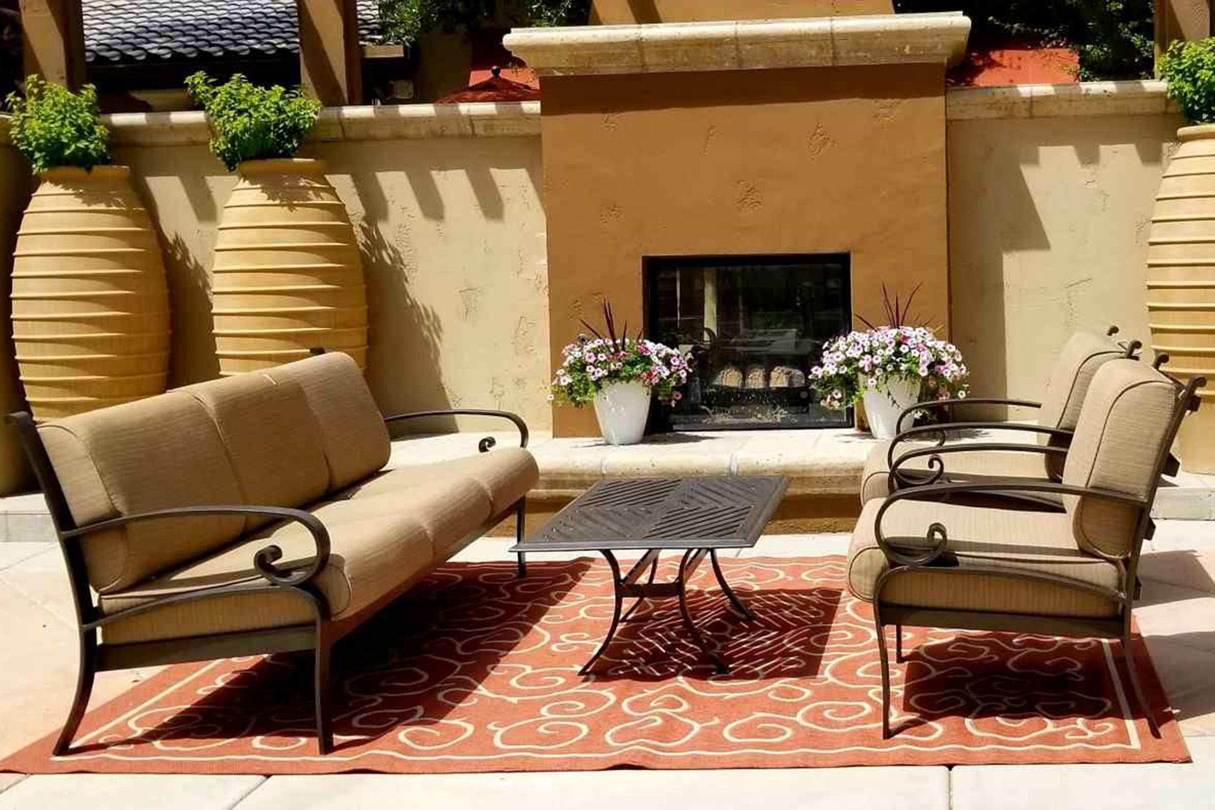 a chair in a garden