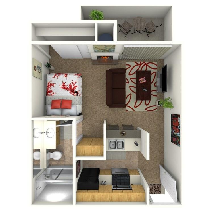 Floor plan image of Studio D2