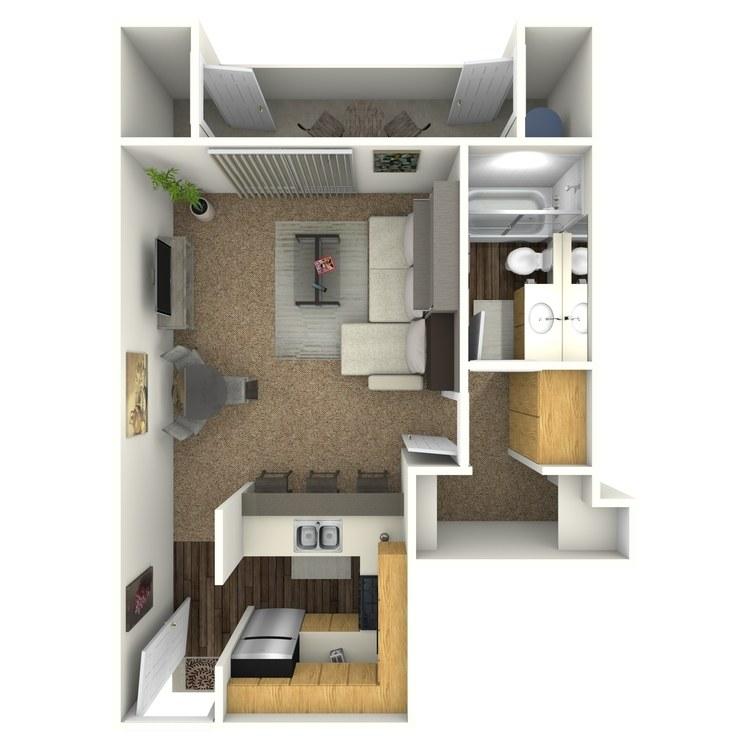 Floor plan image of Studio F