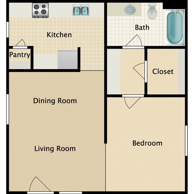 Floor plan image of A Efficiency