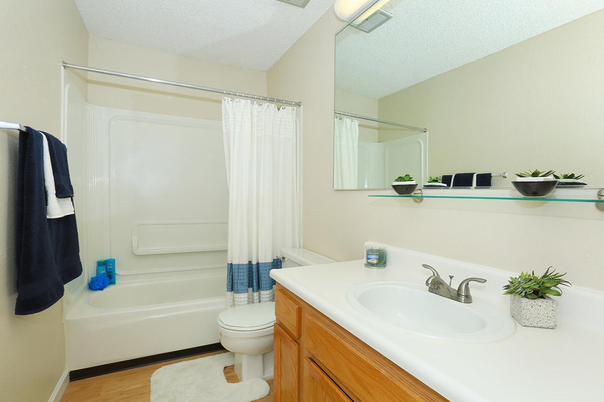 We feature modern bathrooms at Prescott Pointe