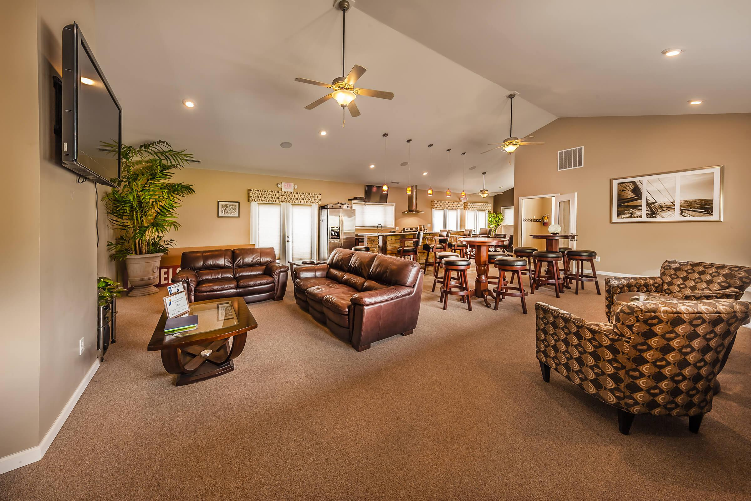 a living room filled with lots of furniture