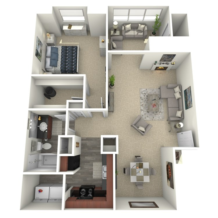Floor plan image of The Magnolia with Sunroom