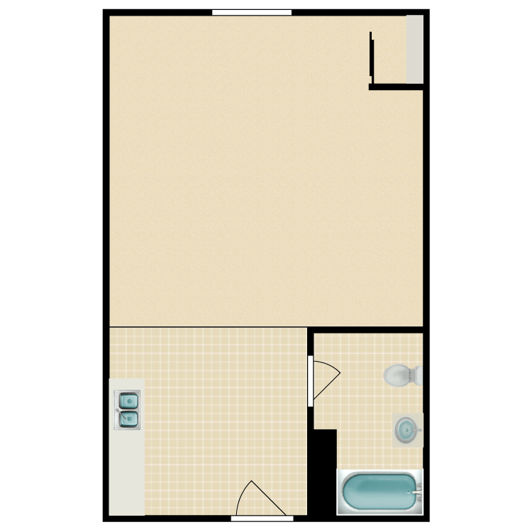 Floor plan image of Furnished Studio month to month