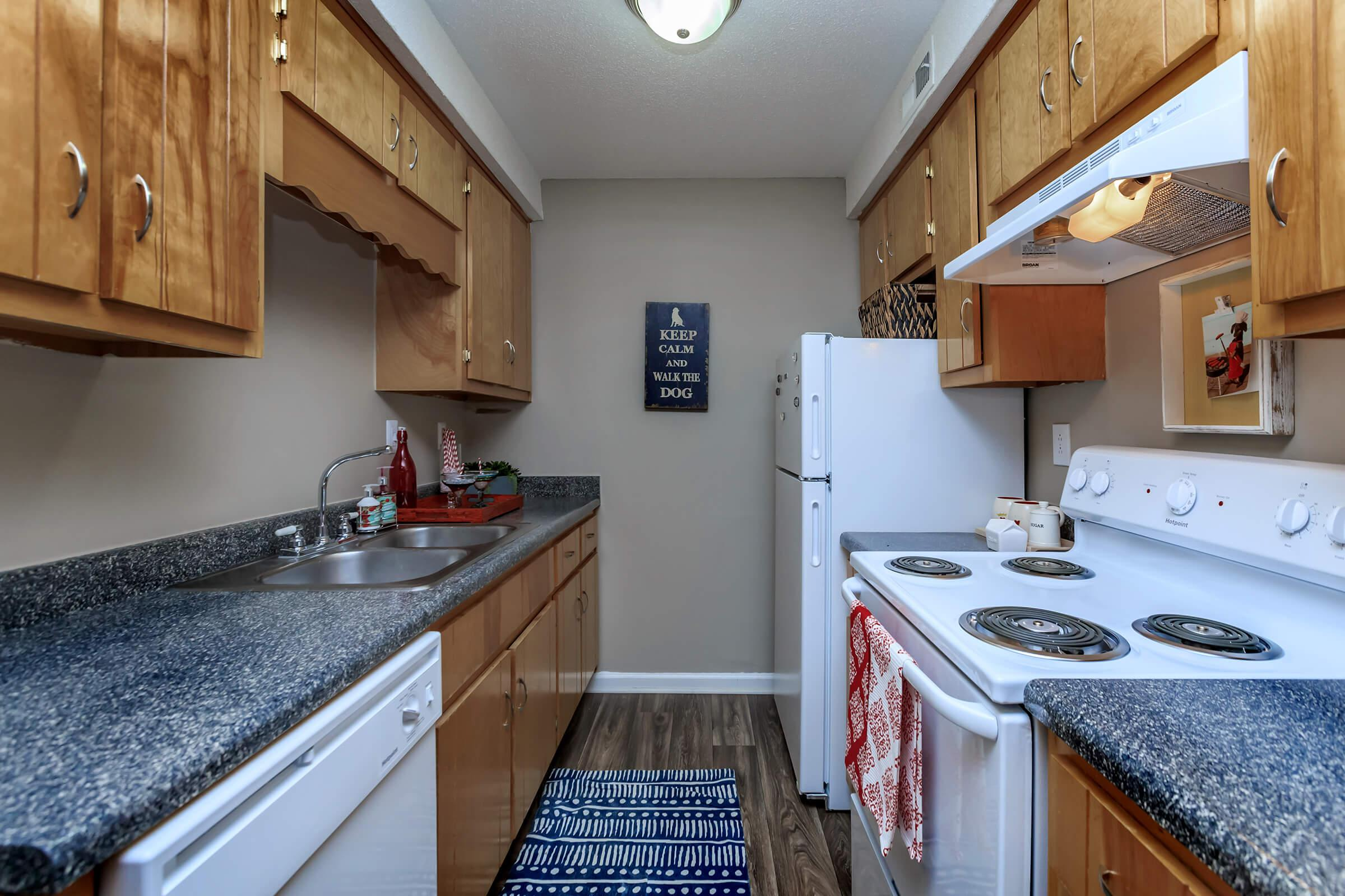 Our Kitchens come with a Refrigerator