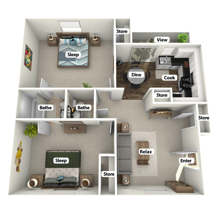 Floor plan image of The Whispering Pine