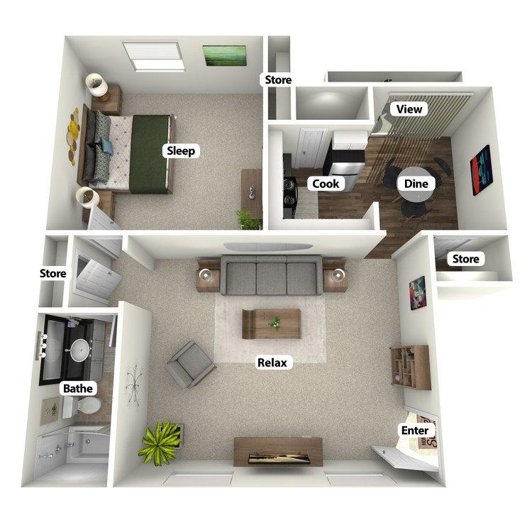 Floor plan image of The Redbud