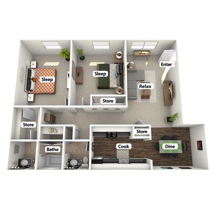 Floor plan image of The Mighty Oak