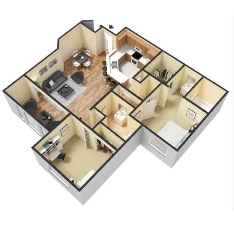 Floor plan image of 2B1