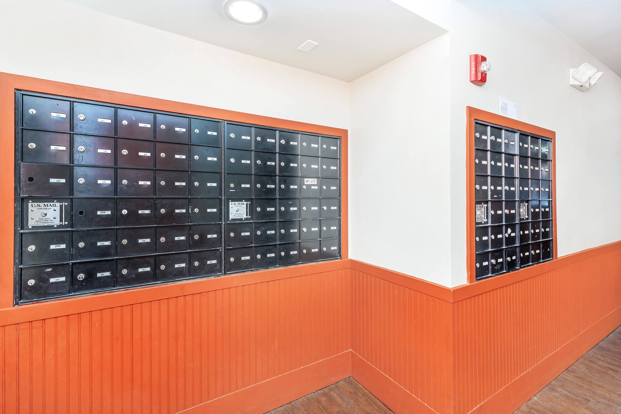 a large orange room