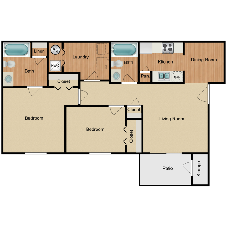The Holly floor plan image