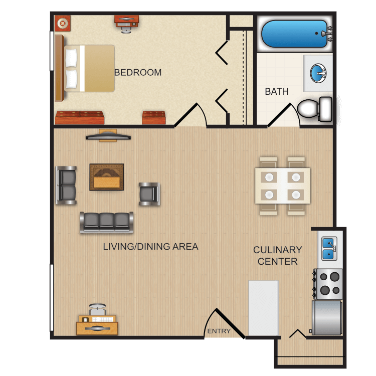 Floor plan image of The Spruce